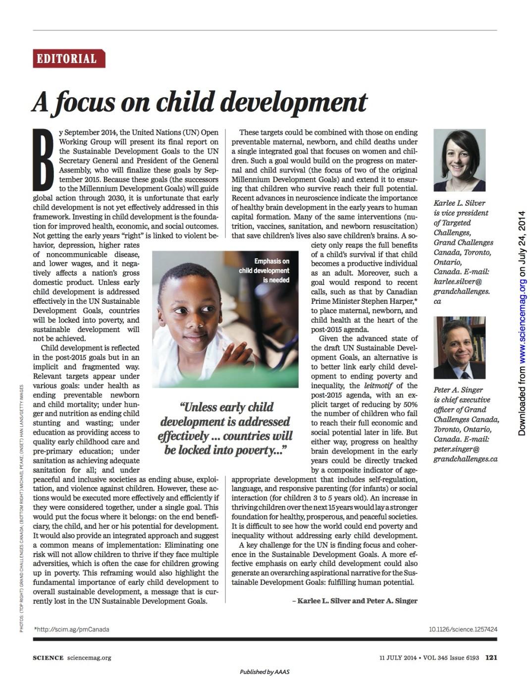 the key states in childhood development